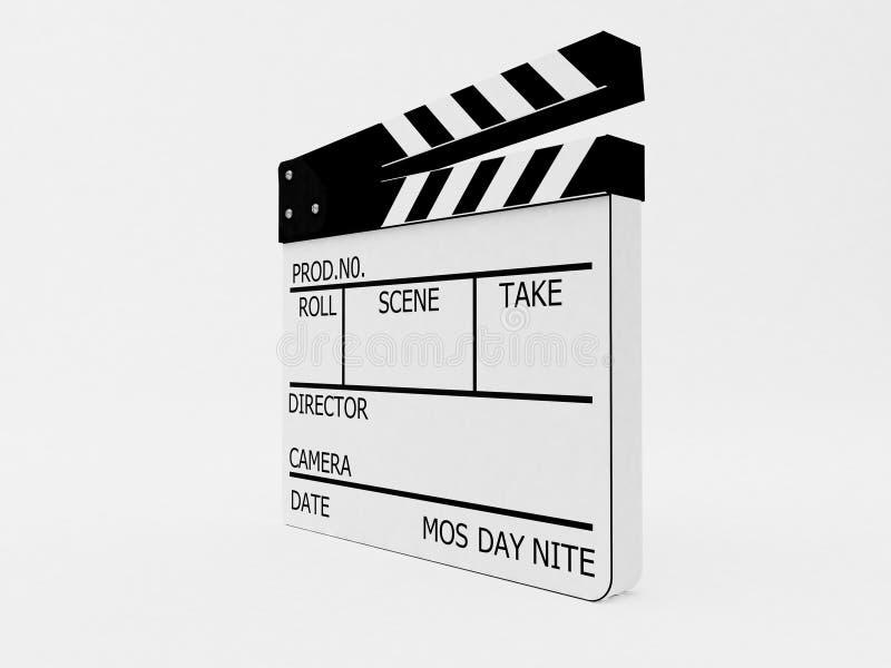 Filmschiefer mit Ausschnittspfad lizenzfreie abbildung