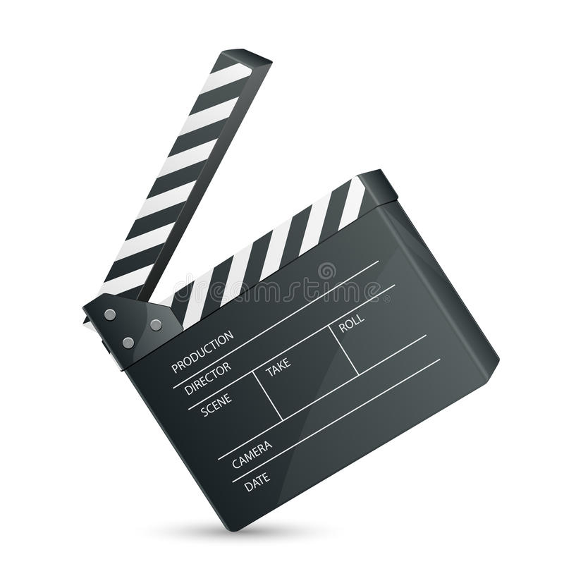 Download Filmset Clapper stock vector. Illustration of blackboard - 27525877