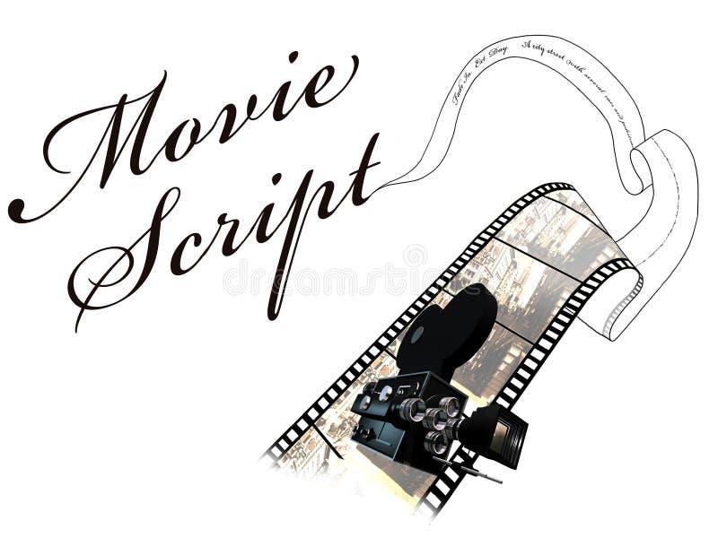 filmskrift stock illustrationer