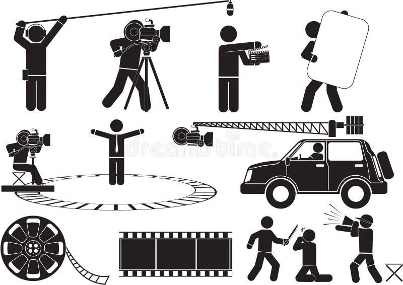 filmskytte stock illustrationer