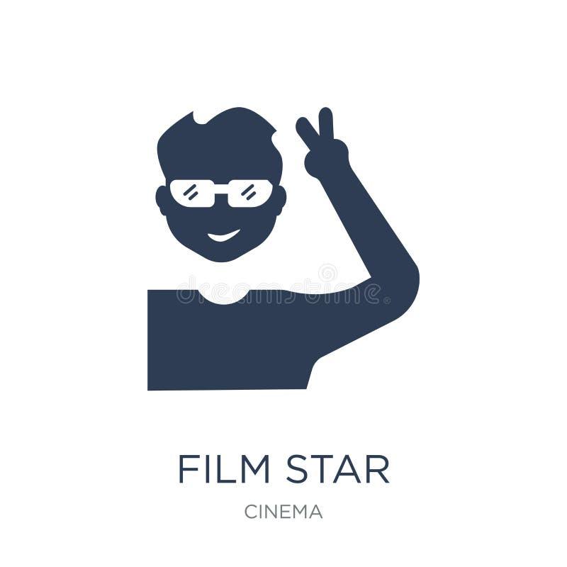 filmsterpictogram In vlak vectorfilmsterpictogram op witte backg royalty-vrije illustratie