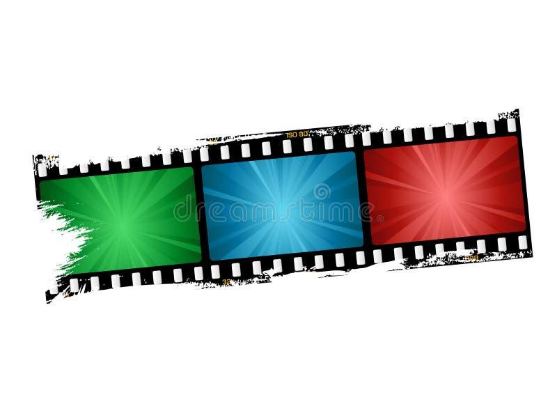 Filmstreifen lizenzfreie abbildung