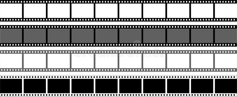 Filmstreifen auf weißer background stock abbildung