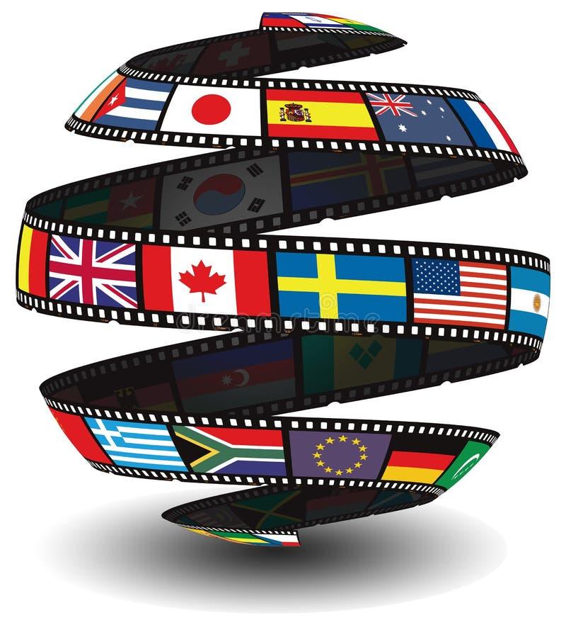 Filmstreifen, der Markierungsfahnen enthält