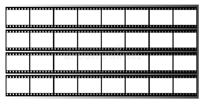 Filmstreifen gestaltet Feld lizenzfreie abbildung