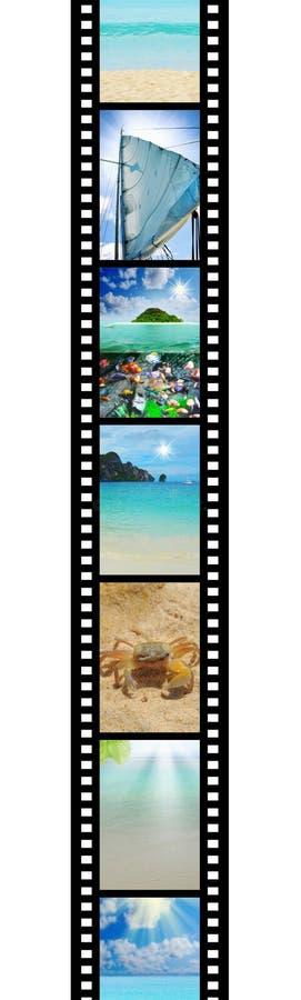Filmstreifen mit schönen Feiertagsbildern stock abbildung