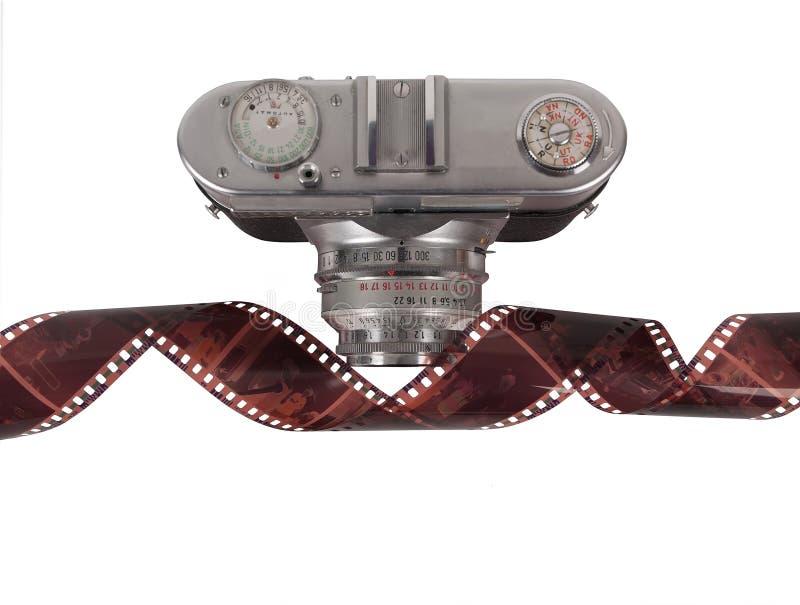 Filmstreifen und -kamera lizenzfreies stockbild