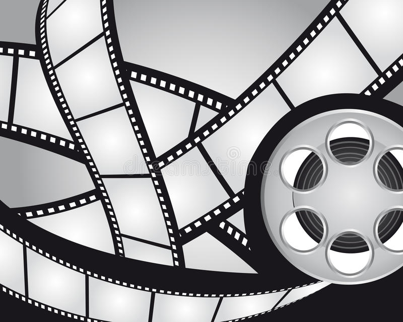 Filmstreifen und videofilm lizenzfreie abbildung