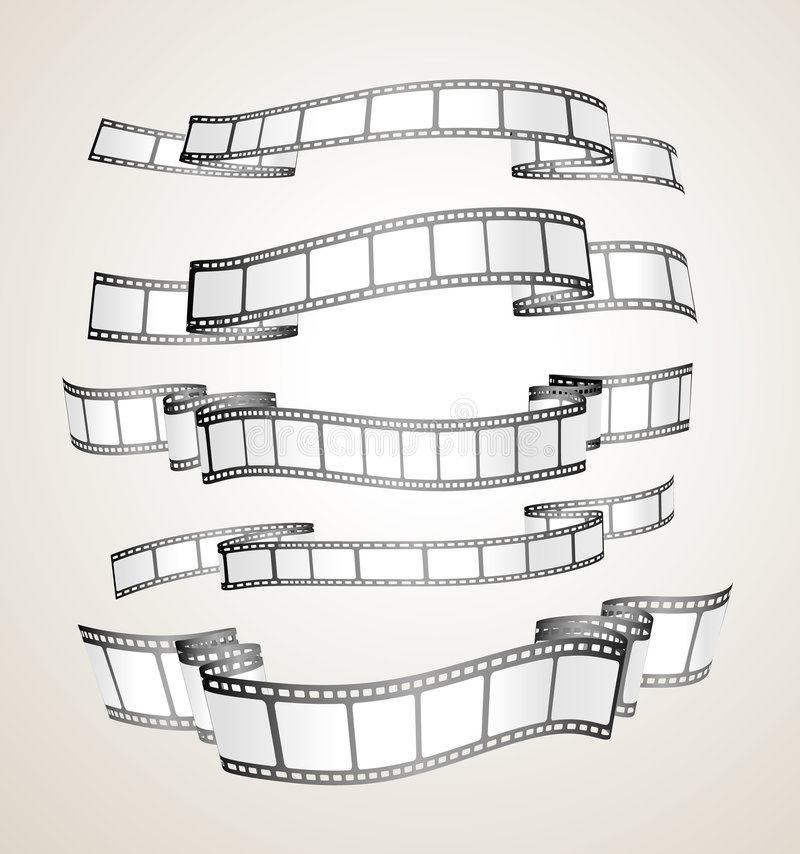 Filmstreifenfahnen vektor abbildung