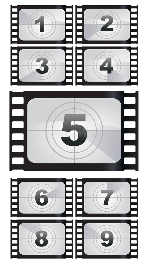Filmstreifenhintergründe lizenzfreie abbildung