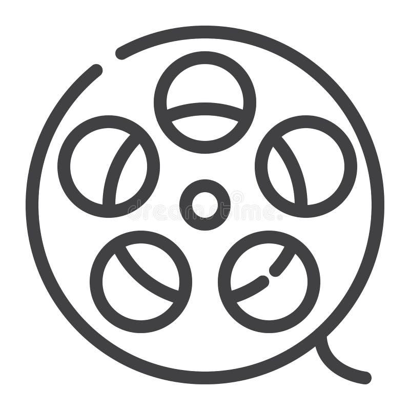 Filmstreifenlinie Ikone stock abbildung