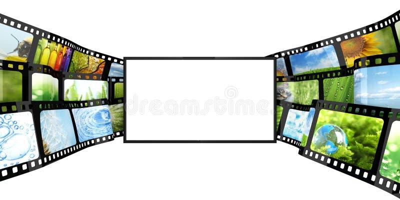 Filmstrip με την κενή TV ελεύθερη απεικόνιση δικαιώματος