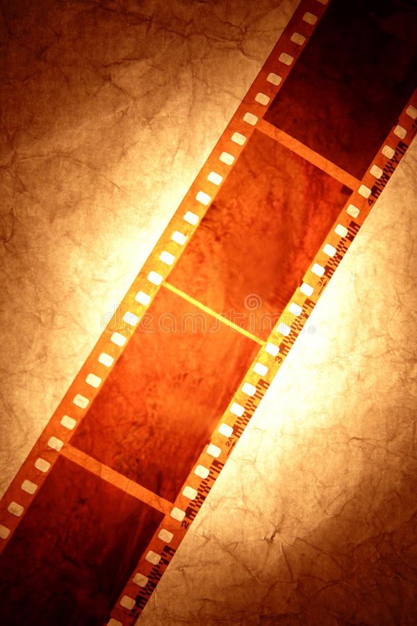 Filmstrip. Close up of sepia tone filmstrip royalty free stock photos