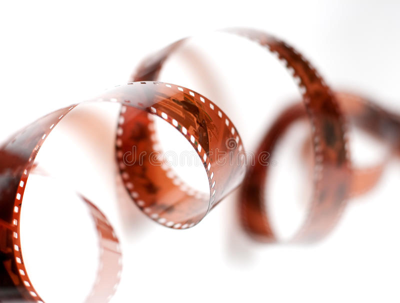 Filmstrip. Roll over white background royalty free stock image