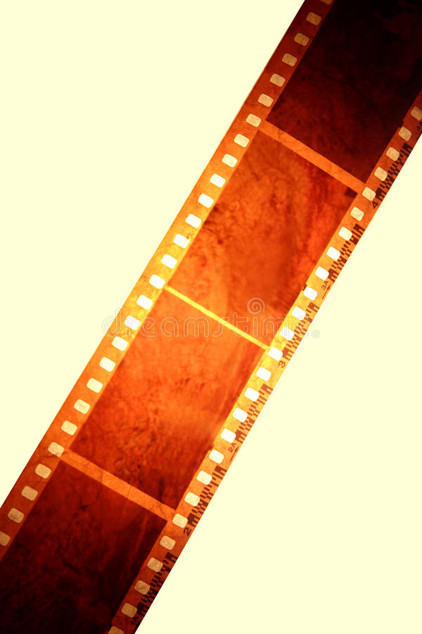 Filmstrip. Photo negative filmstrip over plain background royalty free stock photo