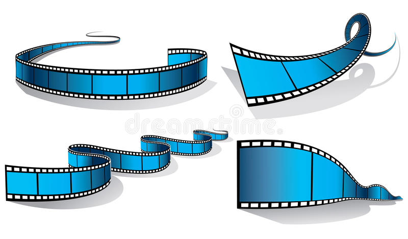 Filmstrip stock illustrationer
