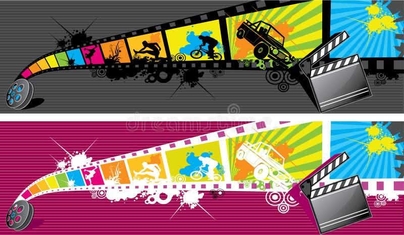 Filmstrip иллюстрация вектора