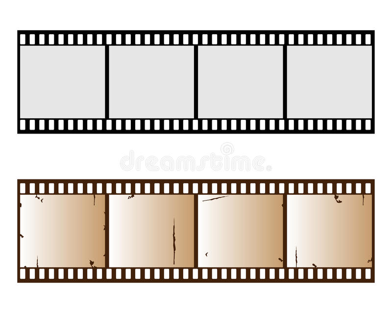 Filmstrip. Illustration of two filmstrip isolated on white background.One in old version.EPS file available stock illustration