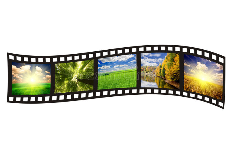 Filmstrip. On the white backgrounds stock image
