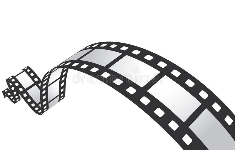 Filmstrip. Isolated on white background stock illustration