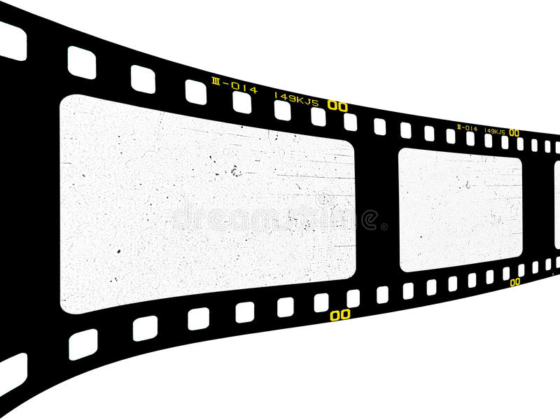 Filmstrip. Old filmstrip in perspective view stock photography