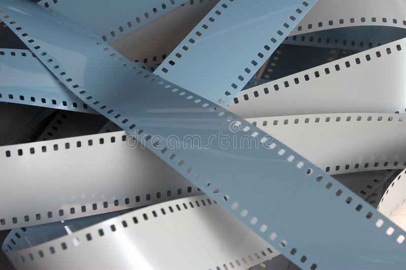 Filmstrip. Blank 35mm filmstrip stock photos