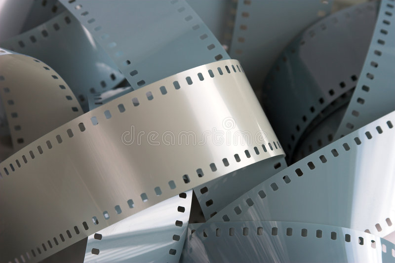 Filmstrip. Blank 35mm filmstrip royalty free stock photo