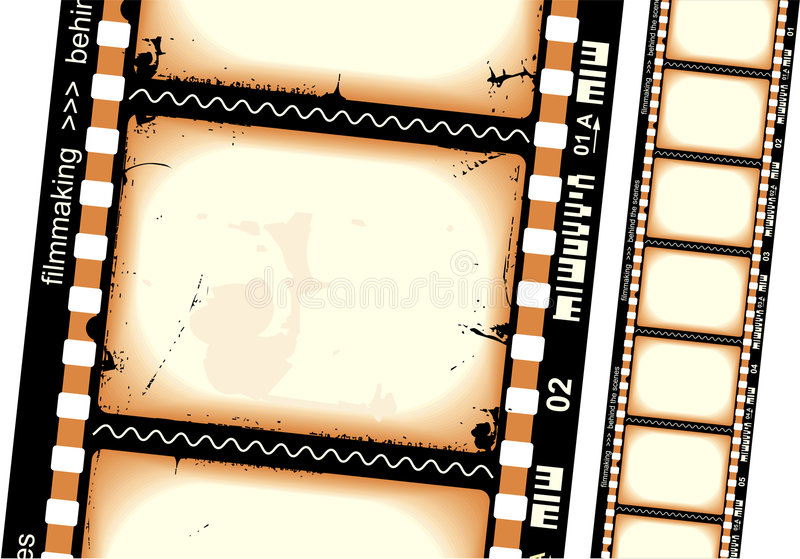 Filmstrip. 35mm filmstrip. High detailed vector drawing stock illustration