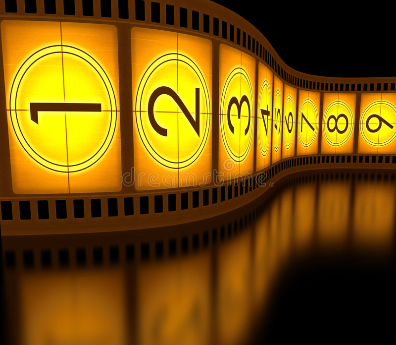 Filmstrip ilustração royalty free