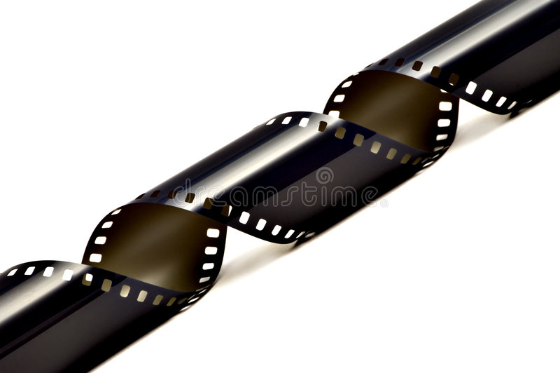 Filmstrip. Beautiful isolated filmstrip on a white background stock photos