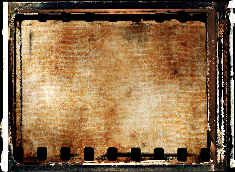 Filmstrip background. Grunge framed background with filmstrip royalty free stock images