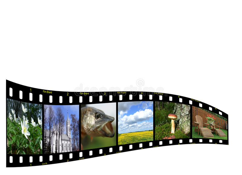 Filmstrip with copyspace stock illustration