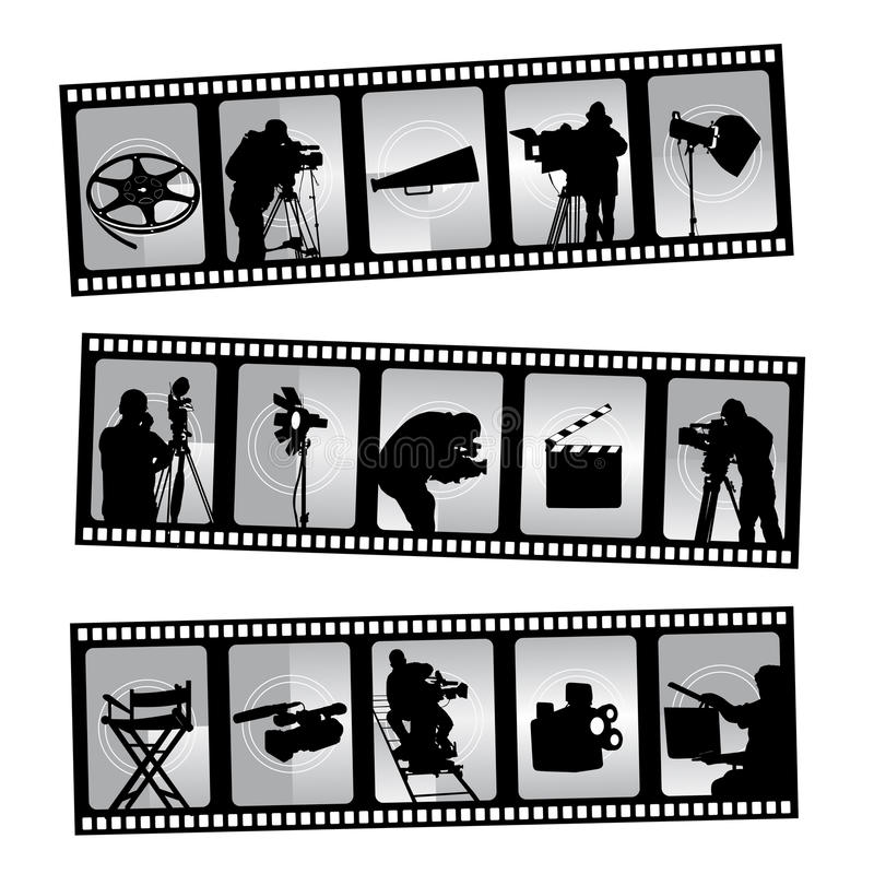 Filmstrip de film illustration de vecteur