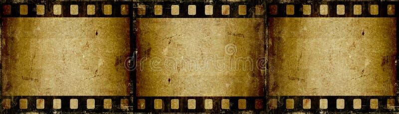 Filmstrip de Grunge ilustração do vetor