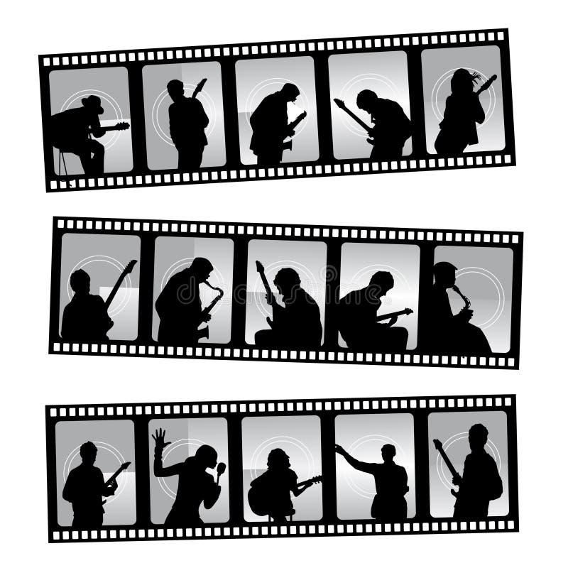 Filmstrip de musique illustration stock