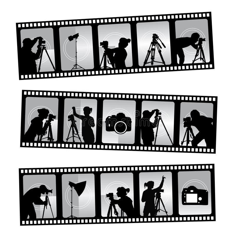 Filmstrip de photographie illustration de vecteur
