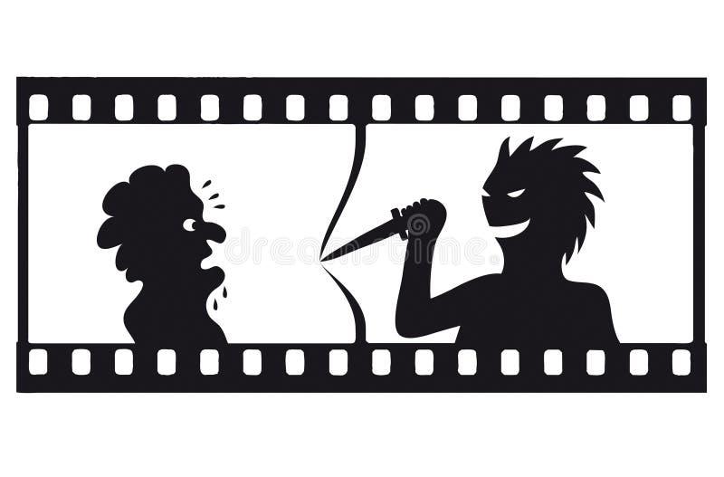 Filmstrip de tension de vecteur illustration stock