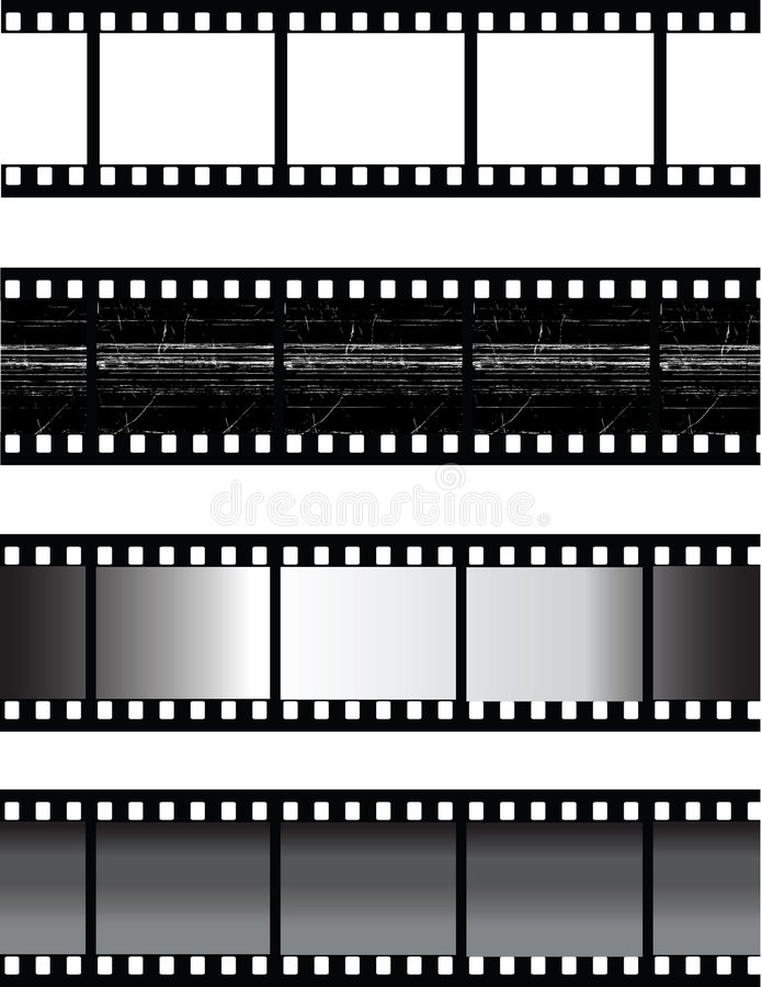 Filmstrip de vecteur illustration stock