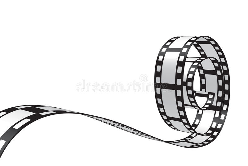 Vector filmstrip design. Movie filmstrip design on white background vector superior quality eps stock illustration