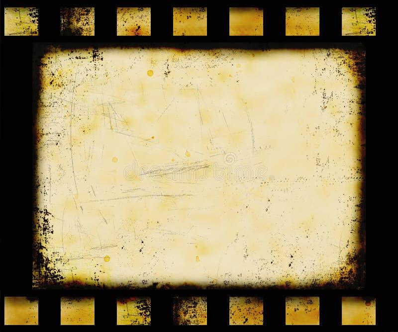Filmstrip di Grunge illustrazione vettoriale