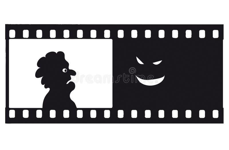 Filmstrip do medo do vetor ilustração do vetor