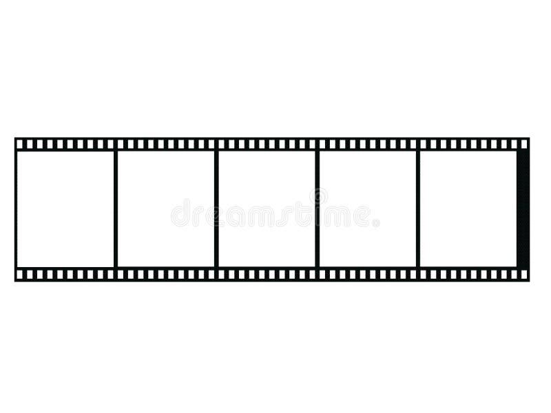 Filmstrip en blanco ilustración del vector