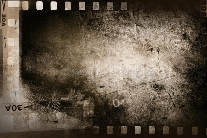Filmstrip. Film negative filmstrip grunge background stock photos