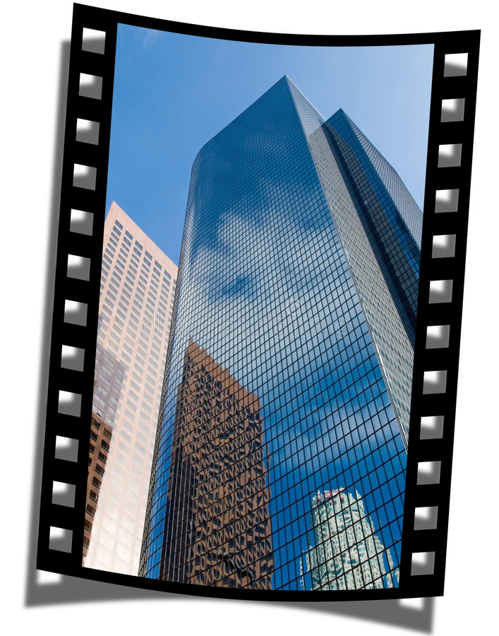 Filmstrip Frame. Cut piece of filmstrip of a travel movie on a developed negative curled at the edges royalty free stock photography