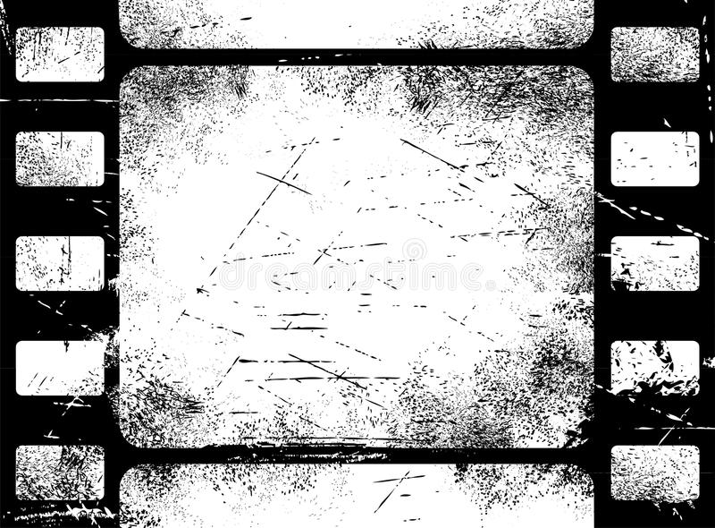 Filmstrip grunge illustration libre de droits