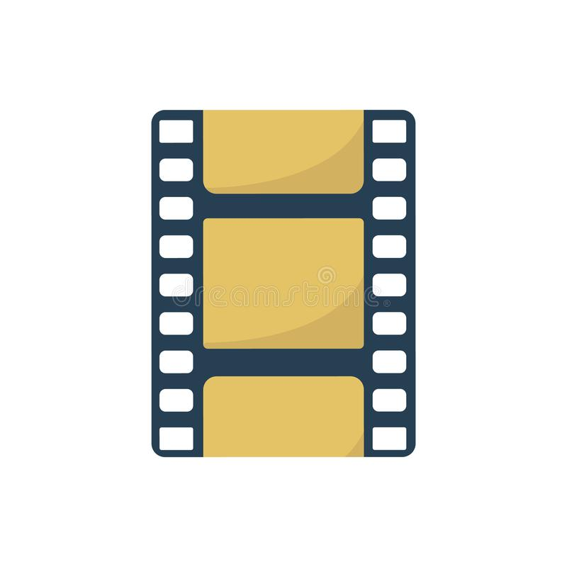Filmstrip Ikone Element f?r Entwurf lizenzfreie abbildung
