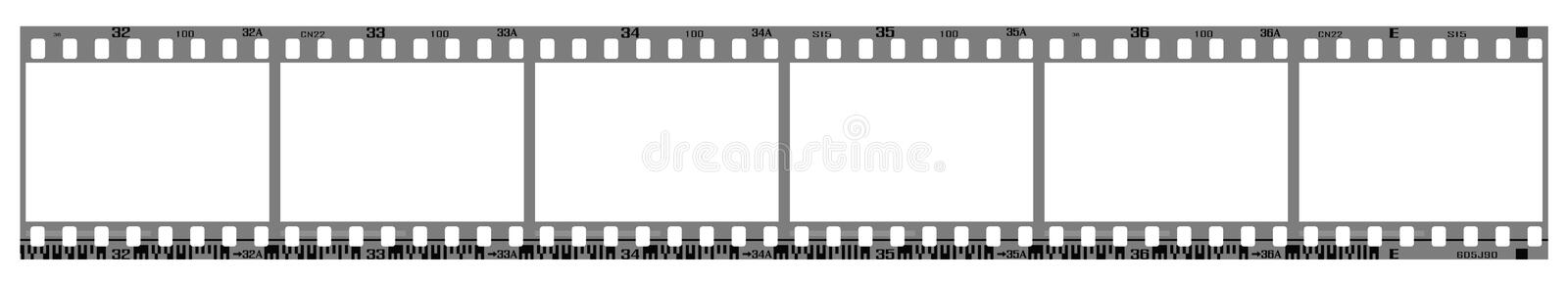 filmstrip inramniner negativen royaltyfri illustrationer