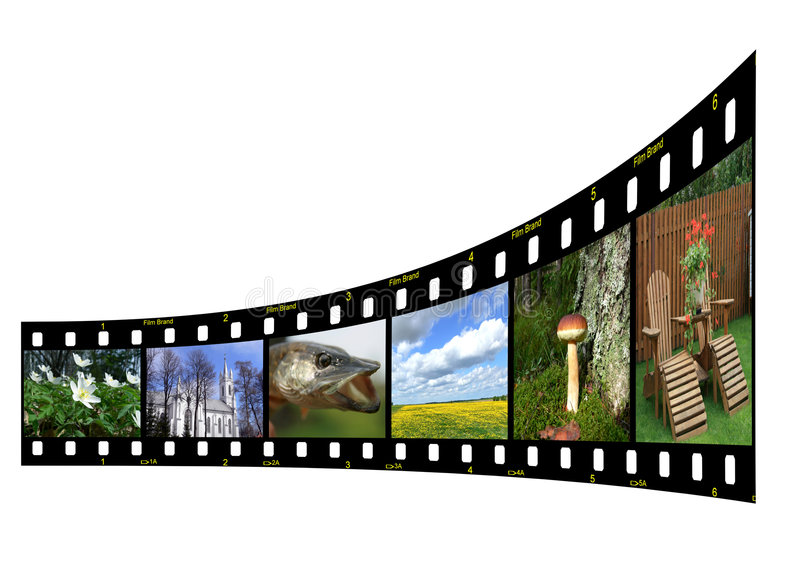 Filmstrip met foto's stock illustratie