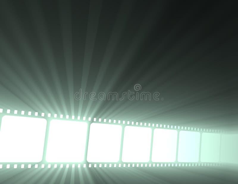 Filmstrip movie glowing light flare royalty free stock photos