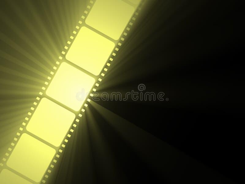 Filmstrip movie sun light flare stock photo